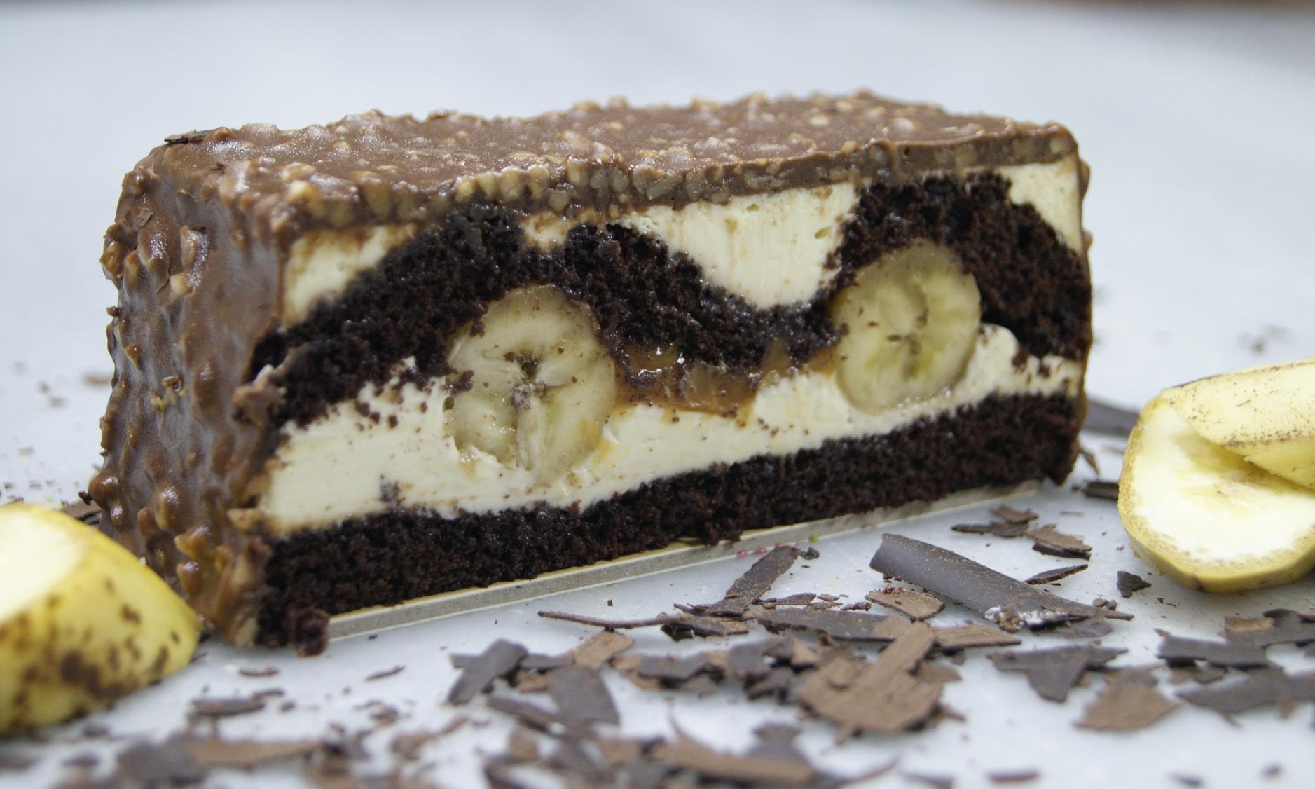 Prăjitură cu cremă de banane